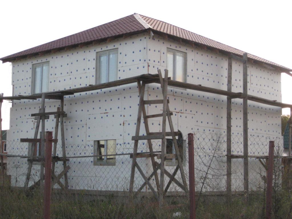мокрый фасад каркасный дом