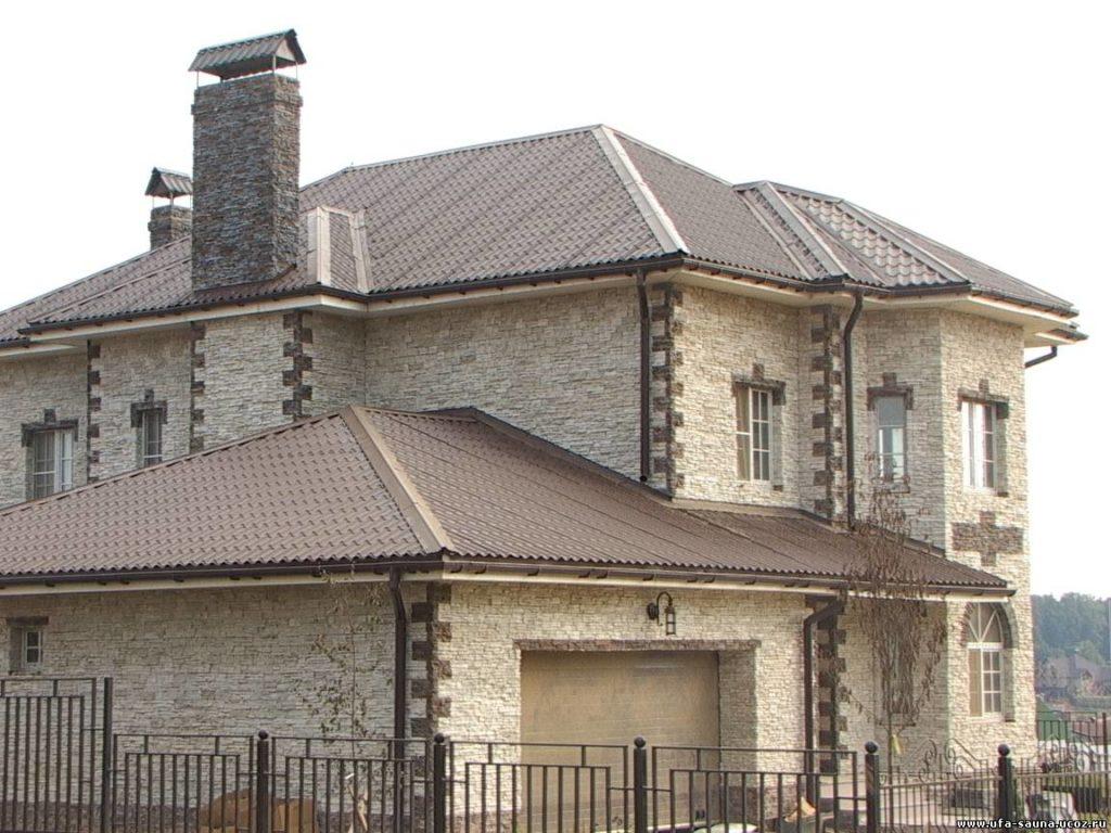 искуственный камень каркасный дом