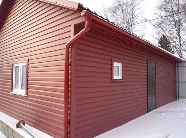металлосайдинг каркасный дом