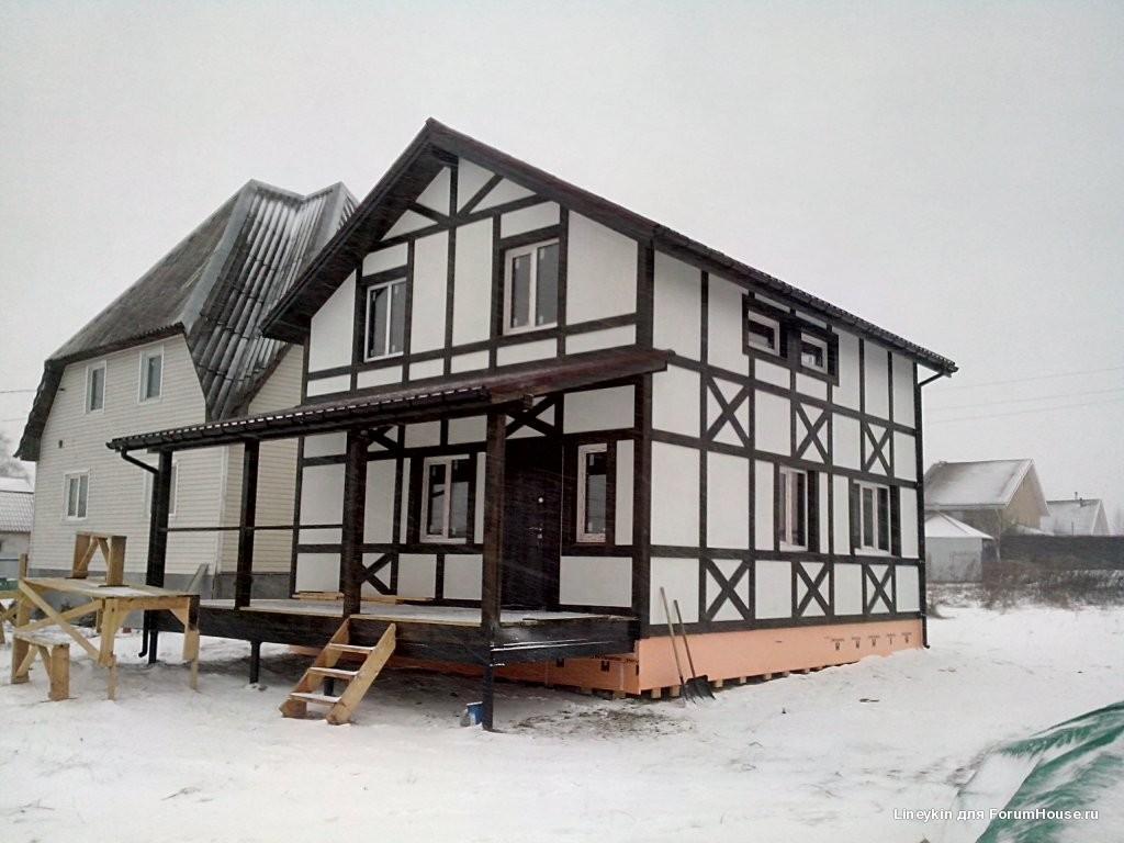 каркасный дом фанера фсф фасад