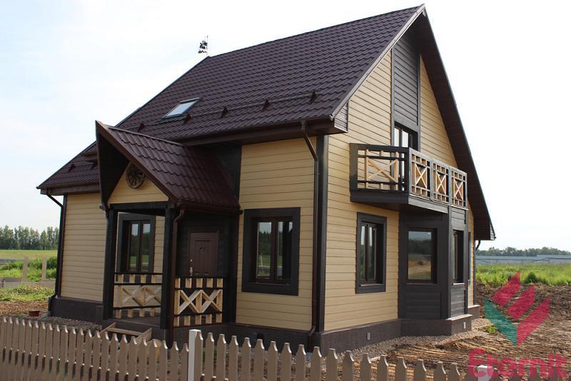 этернит каркасный дом
