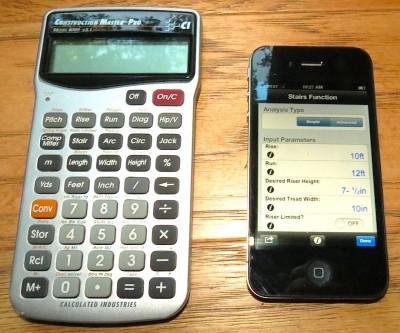 строительный кулькулятор и приложения для смартфона
