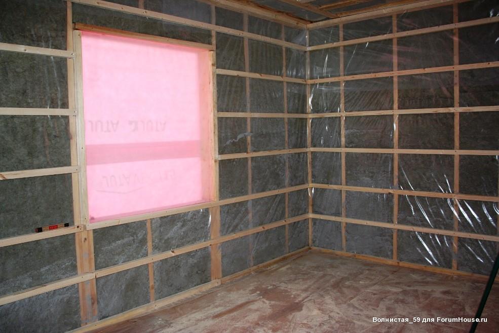 каркасный домобрешетка стен внутри