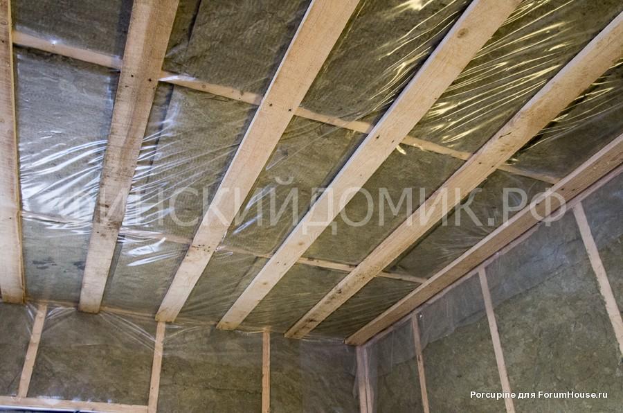 каркасный дом обрешетка потолка