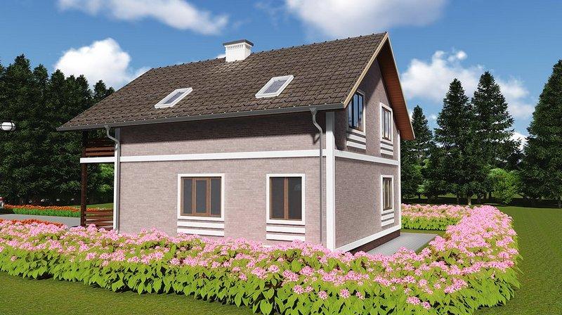 каркасный дом и пейзаж