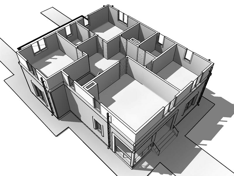 каркасный дом проект и фасады