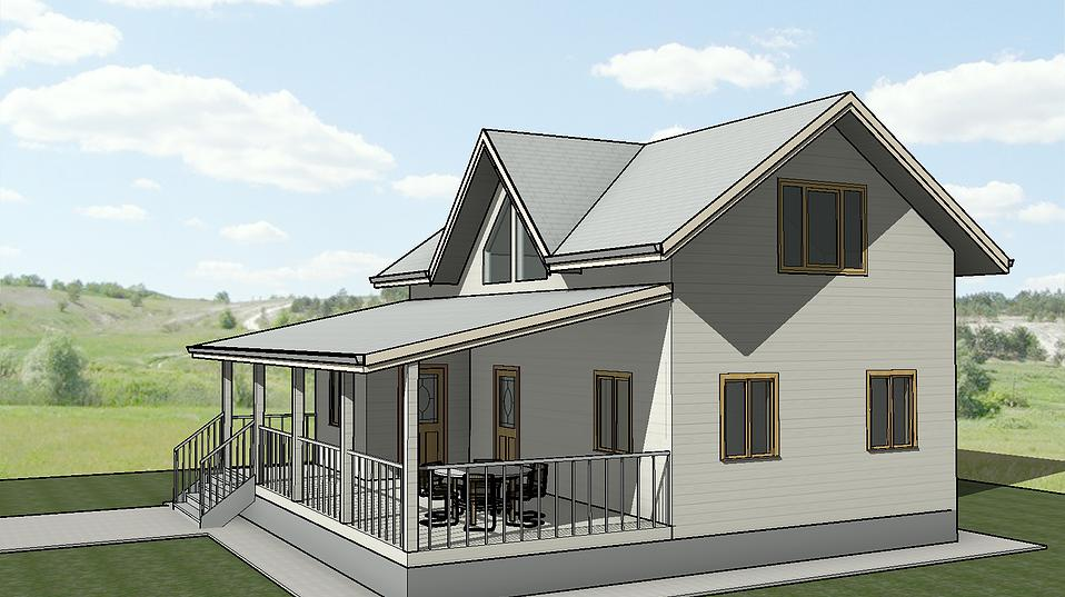 каркасный дом проект 2 этажа 10 на 10