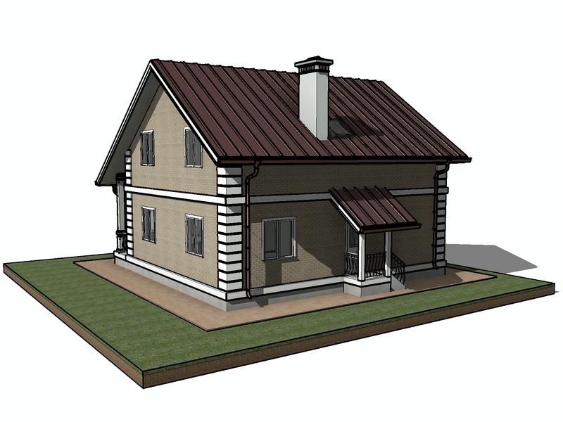 каркасный дом с мансардными окнами