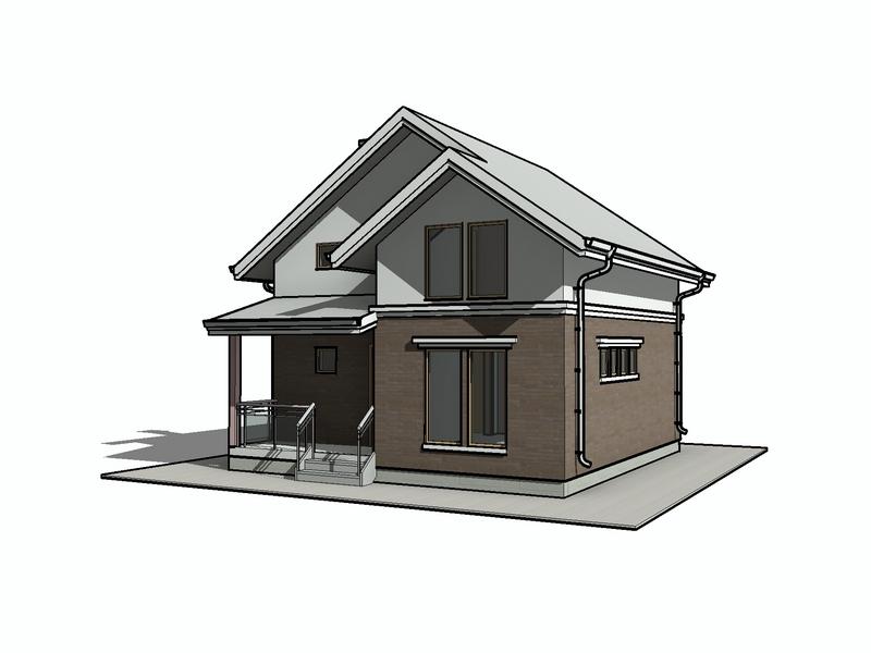 каркасный дом с мансардой проект