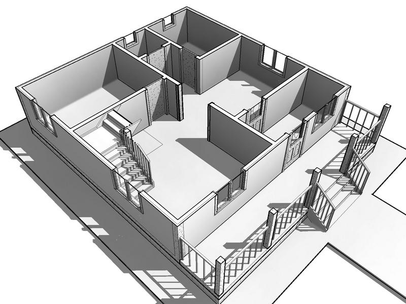 каркасный дом с мансардой 10 на 10 (2)