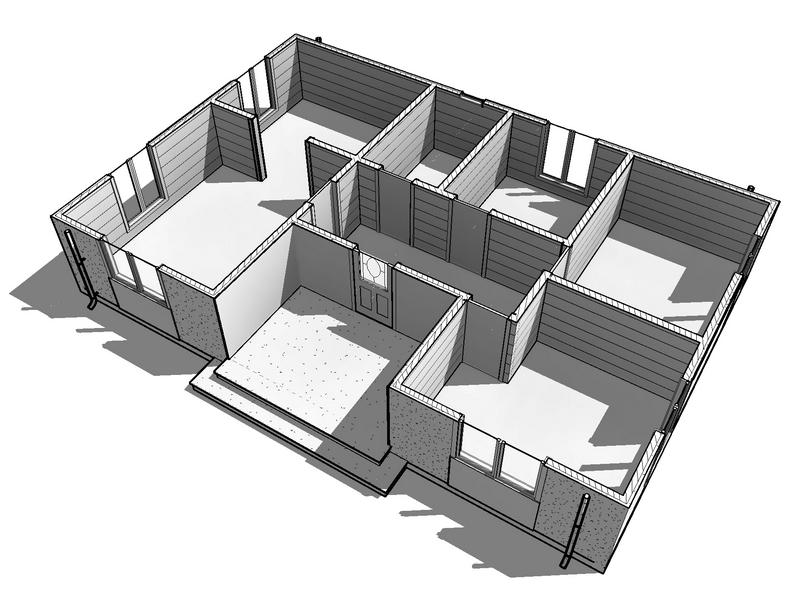 каркасный дом 1 этаж 8 на 12 (3)