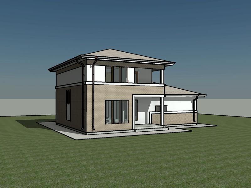 каркасный дом 13,5 на 10 проект