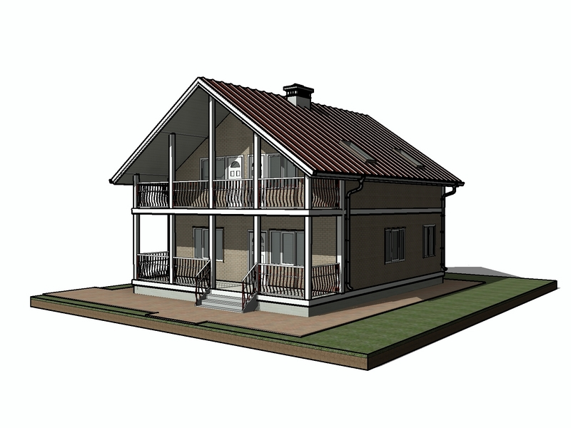 каркасный дом 180 квадратов