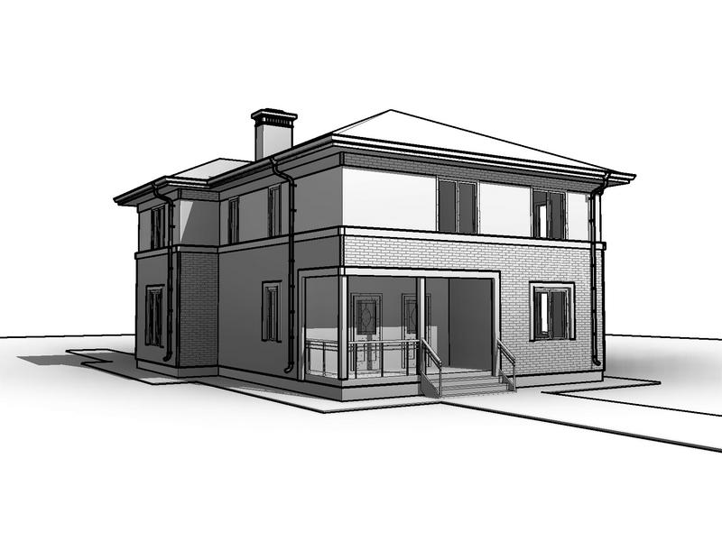 каркасный дом 2этажа фасады