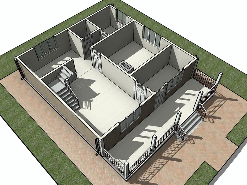 каркасный дом 2 этажа