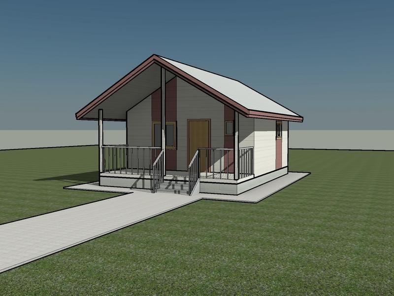 каркасный дом 50 квм проект