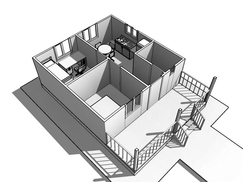 каркасный дом 8 на 6