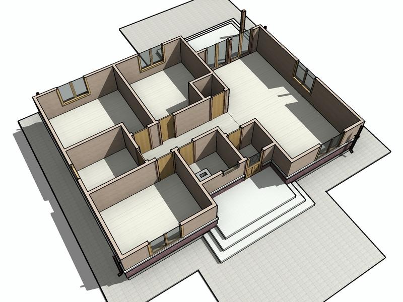 каркасный одноэтажник проект заказать