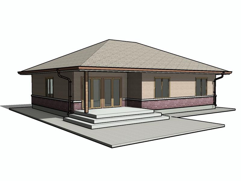 каркасный одноэтажный дом проект