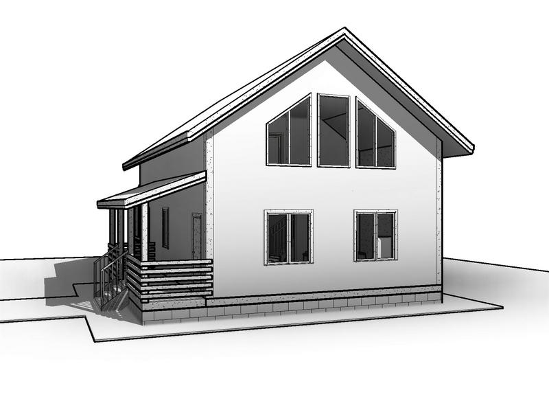 проект каркасного дома 10 на 7