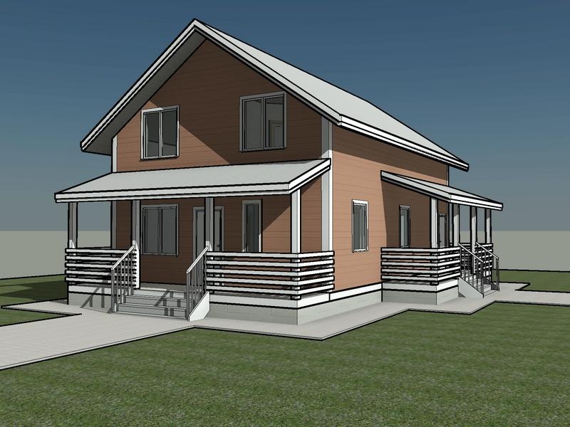 проект каркасного дома 160 квм