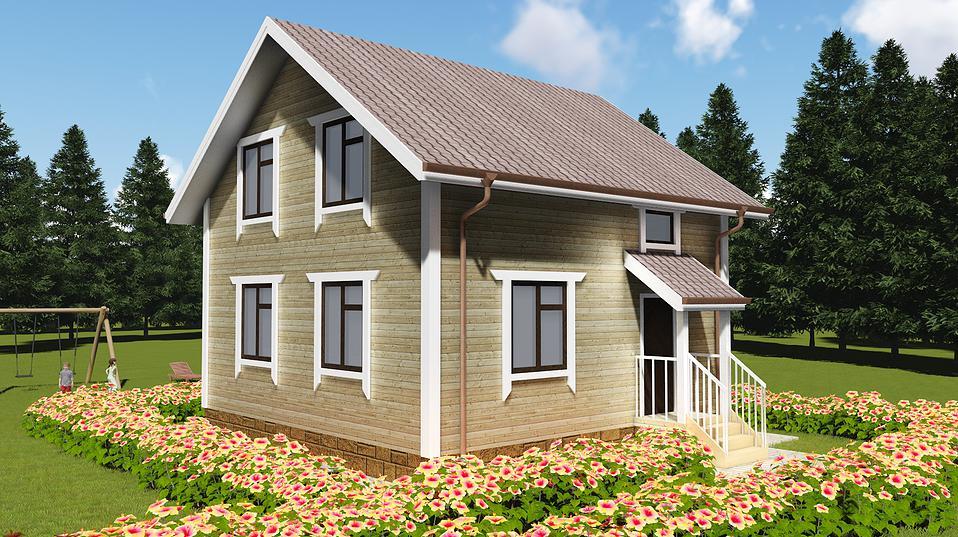 проект каркасного дома 98 квметров