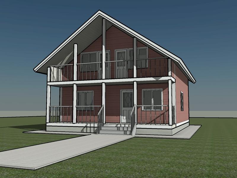 проект каркасный дом с мансардой 10 на 10