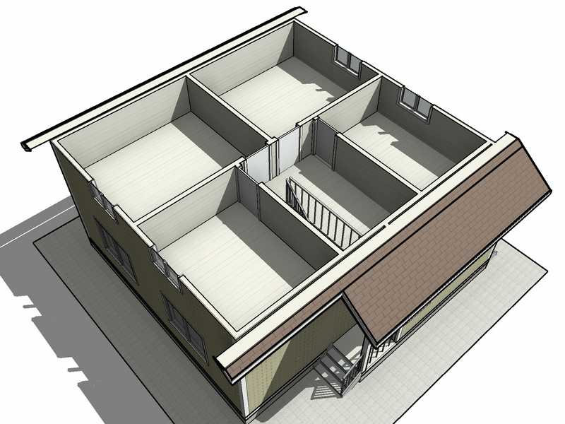 просторный каркасный дом