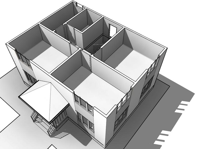 10x7,5 каркасный дом