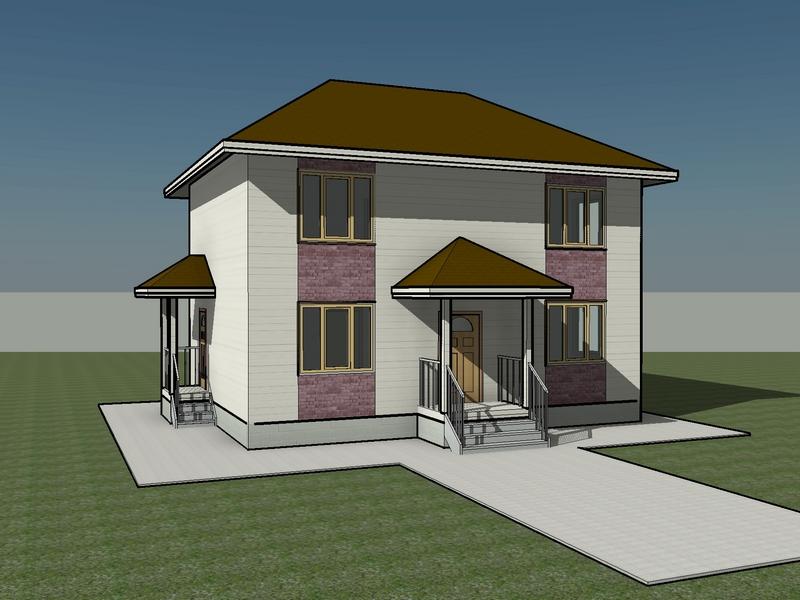 7,5x10 каркасный дом