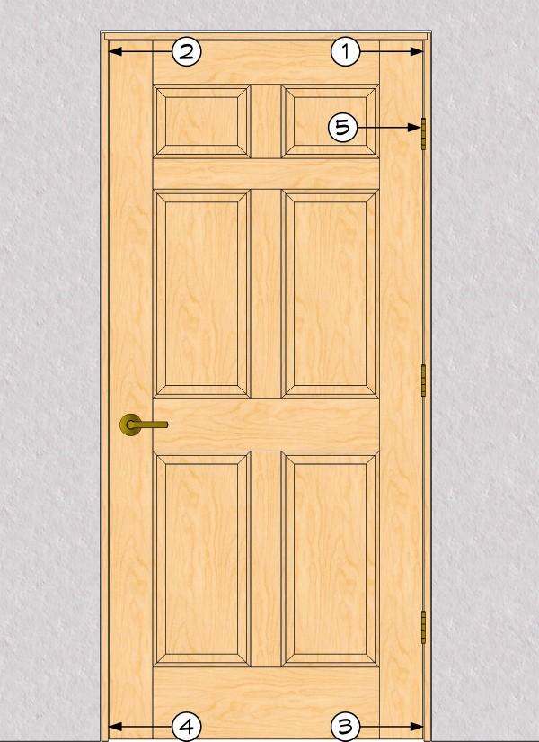 межкомнатная дверь в каркасном доме