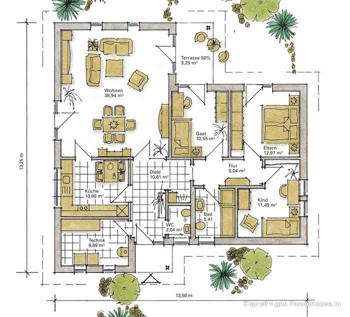 планировка одноэтажного каркасника (2)