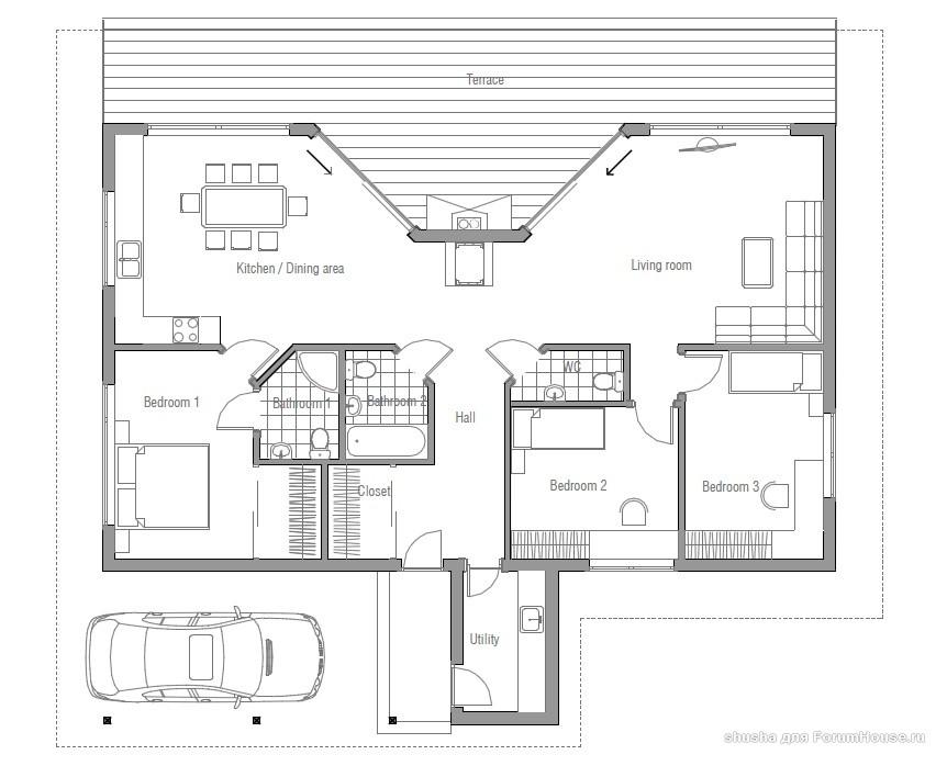планировка одноэтажных домов (17)