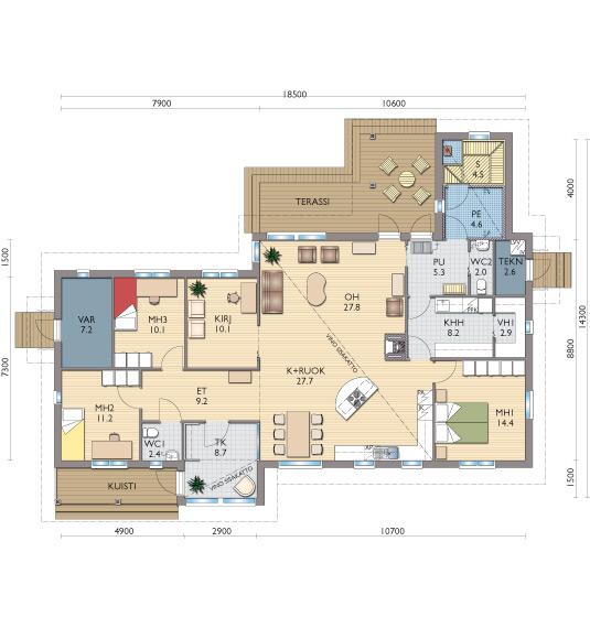 планировка одноэтажных домов (4)