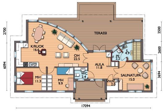 планировка одноэтажных домов (5)