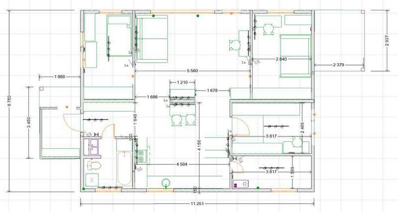 планировка каркасного дома