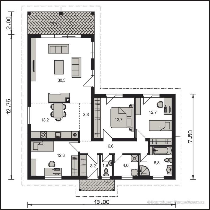 планировки одноэтажника (3)