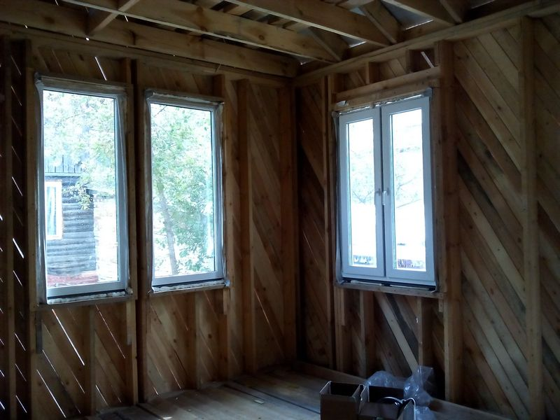окна монтаж каркасный дом