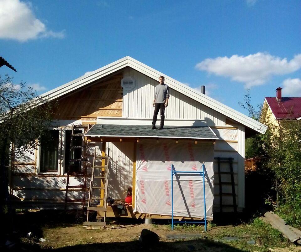 вертикальный сайдинг на фасаде